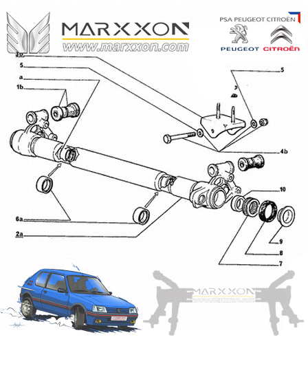 Psa Peugeot 106 205 206 207 208 206sw 306 Partner Citroen Ax Saxo Xsara Xz Picasso Berlingo Rear